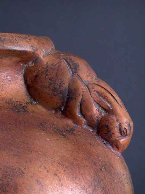 Image 1 of Rabbit Bronze Vase Prop From The Movie